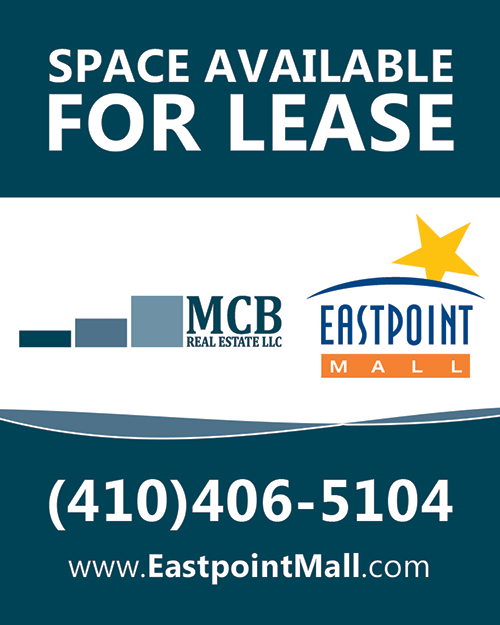 Space Available for Leasing 410-406-5110